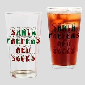 Santa prefers Red Socks, Boston Sox Drinking Glass