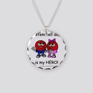 Hero Donor Necklace Circle Charm