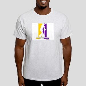 Pimps Playas Hustlas pg Ash Grey T-Shirt