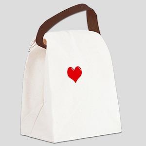 I-Love-My-Cavalier-dark Canvas Lunch Bag