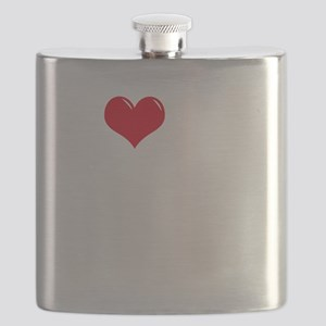 I-Love-My-Cavalier-dark Flask
