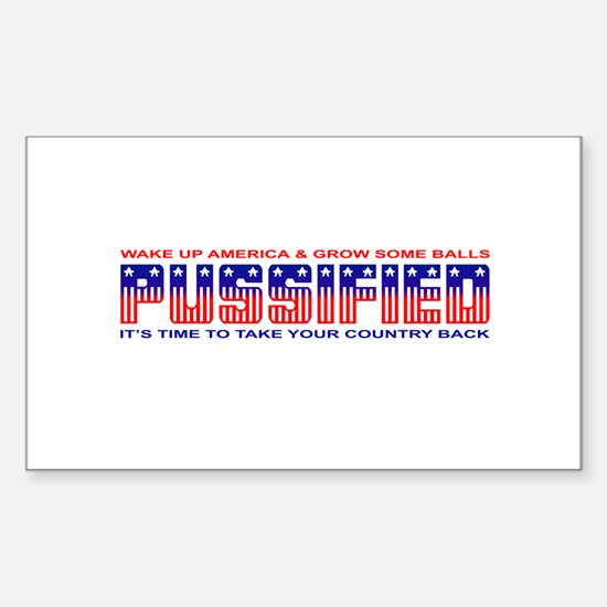 Pussified America Rectangle Decal