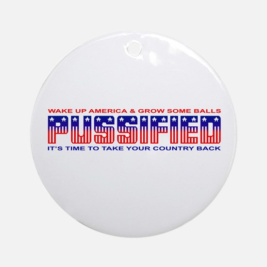 Pussified America Ornament (Round)