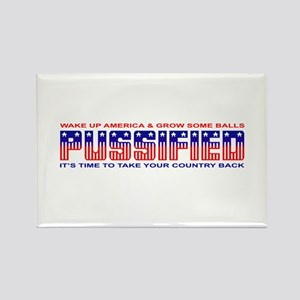 Pussified America Rectangle Magnet