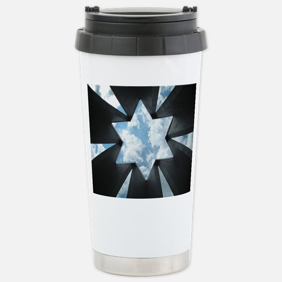 Jewish Star Stainless Steel Travel Mug