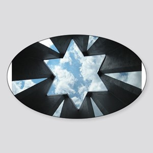 Jewish Star Sticker (Oval)
