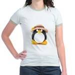 Sunflower Hat Clay Penguin Jr. Ringer T-Shirt