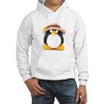 Sunflower Hat Clay Penguin Hooded Sweatshirt
