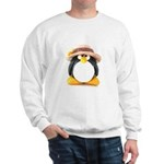 Sunflower Hat Clay Penguin Sweatshirt