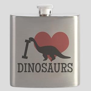 I Love Dinosaurs Flask