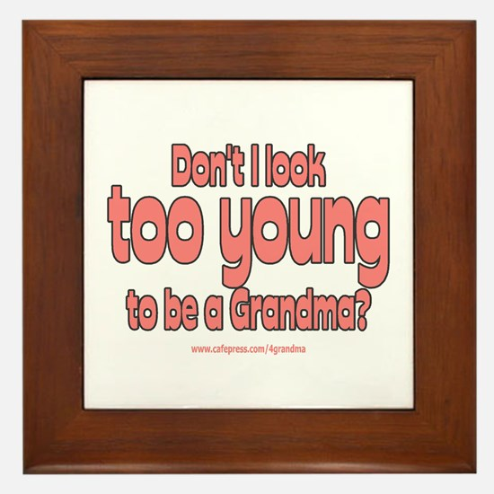 Too Young Framed Tile