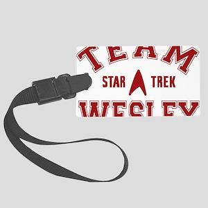 star-trek_team-wesley Large Luggage Tag