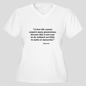 epicur Women's Plus Size V-Neck T-Shirt