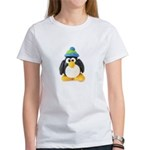Clay Green Beanie Penguin Women's T-Shirt