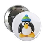 Clay Green Beanie Penguin Button