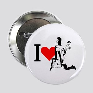 I heart Cowgirls Button