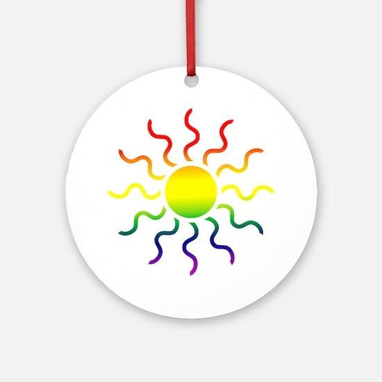 Triabl Sun Ornament (Round)