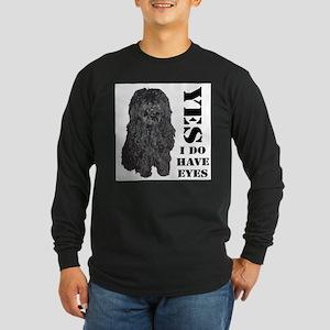 Puli : Yes I Do Have Eyes Long Sleeve Dark T-Shirt