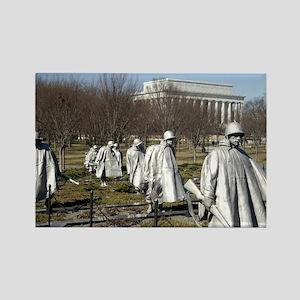 Korean War Memorial Rectangle Magnet