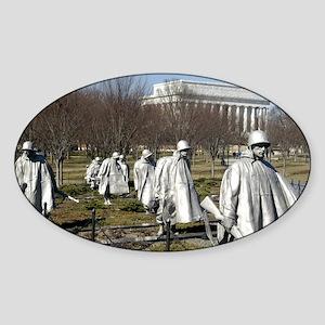 Korean War Memorial Oval Sticker