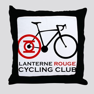 Lanterne Rouge Cycling Club Throw Pillow