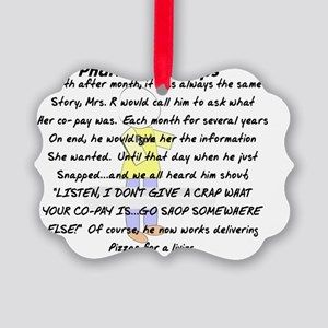 Pharmacist SNAPS Picture Ornament