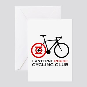 Lanterne Rouge Cycling Club Greeting Cards