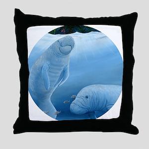 manatee haven 2 Throw Pillow