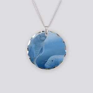 manatee haven Necklace Circle Charm