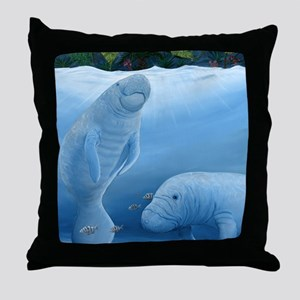 manatee haven Throw Pillow