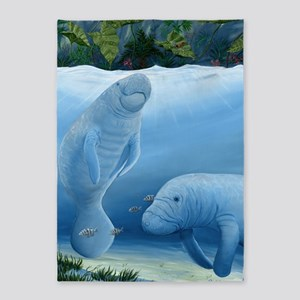 manatee haven 5'x7'Area Rug