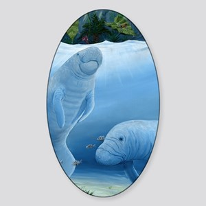 manatee haven Sticker (Oval)