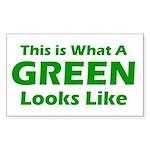 Green Rectangle Sticker