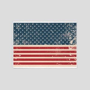 Legendary American Grunge 5'x7'Area Rug
