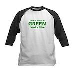 Green Kids Baseball Jersey