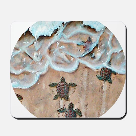 Race To The Sea round Mousepad
