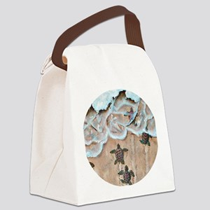 Race To The Sea round Canvas Lunch Bag