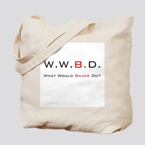 White with Black/Red Tote Bag
