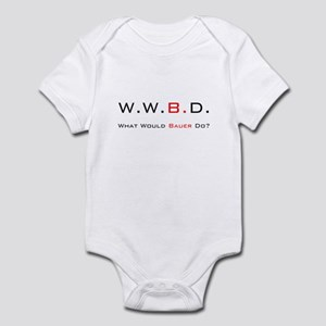 White with Black/Red Infant Bodysuit
