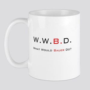 White with Black/Red Mug