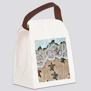 Race To The Sea square Canvas Lunch Bag