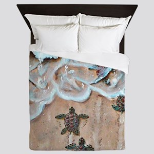 Race To The Sea square Queen Duvet