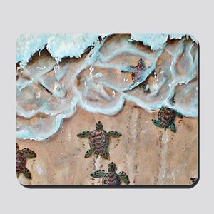 Race To The Sea square Mousepad