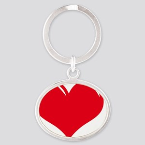I-Love-My-Boxer Oval Keychain