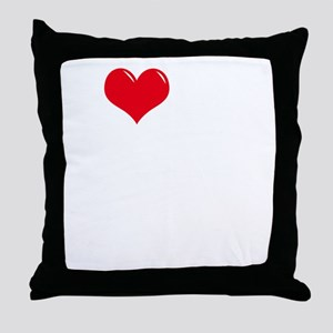 I-Love-My-Boxer-dark Throw Pillow