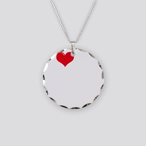 I-Love-My-Boxer-dark Necklace Circle Charm