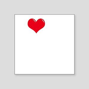 "I-Love-My-Boxer-dark Square Sticker 3"" x 3"""
