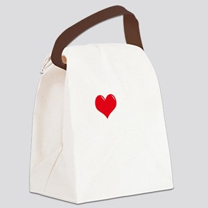 I-Love-My-Boxer-dark Canvas Lunch Bag