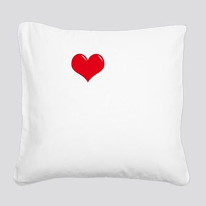 I-Love-My-Boxer-dark Square Canvas Pillow