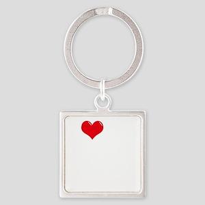 I-Love-My-Boxer-dark Square Keychain